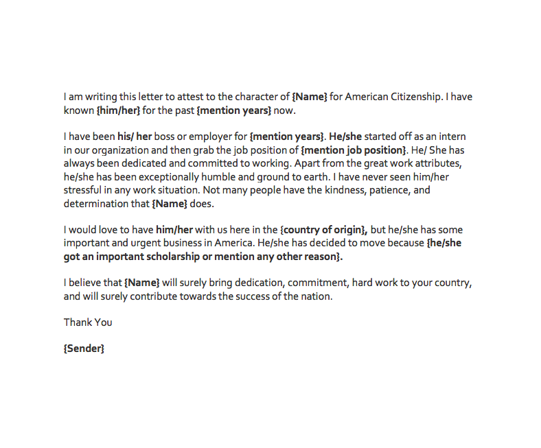 Character Letter Of Recommendation For Immigration from getrecommendationletter.com