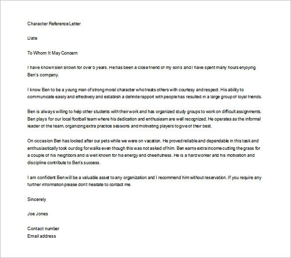 Personal Letter Of Recommendation Sample For A Friend from getrecommendationletter.com